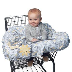 4/$25 Boppy baby | gray chevron print cart cover